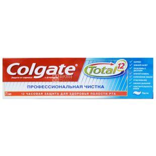 Colgate Total 12 Pro, 75 мл, зубная паста профессиональная чистка