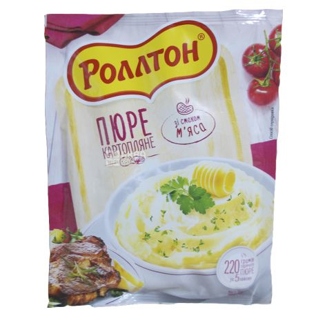 Rollton, 37 g, Mashed potatoes with meat, soft packaging