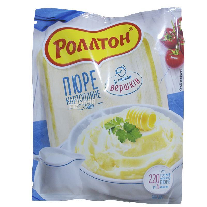 Роллтон, 37 г, Пюре картофельное со сливками, м/у