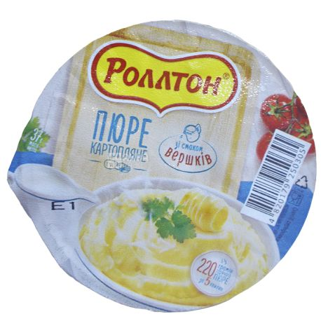 Rollton, 37 g, mashed potatoes with cream