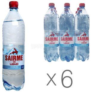 Sairme Вода газована, 1л, ПЕТ, упаковка 6шт