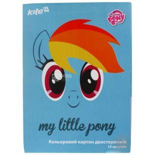 Kite, My little pony, Картон цветной, двусторонний, А4, 10 шт.
