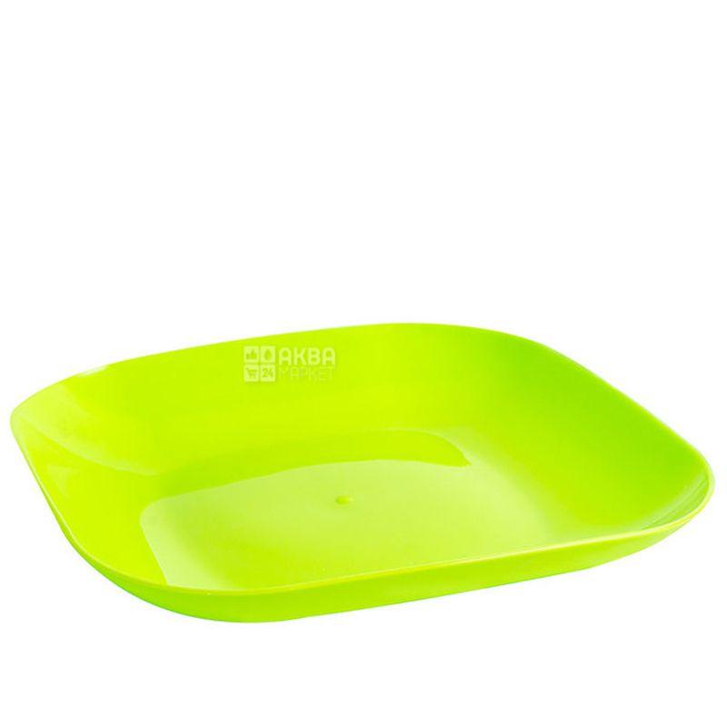 Тарілка пластикова плоска, асорті, 18,5 см