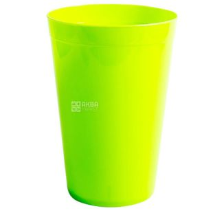 Glass made of durable plastic, assorted color, 400 ml