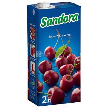 Sandora, Вишневий, Упаковка 6 шт. по 2 л, Сандора, Нектар натуральний