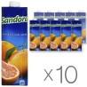 Sandora, Грейпрфрутовий, Упаковка 10 шт. по 0,95 л, Сандора, Нектар натуральний