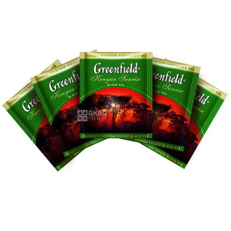Greenfield, Kenyan Sunrise, 100 пак., Чай Гринфилд, Кениан Санрайз,  черный кенийский,  ХоРеКа