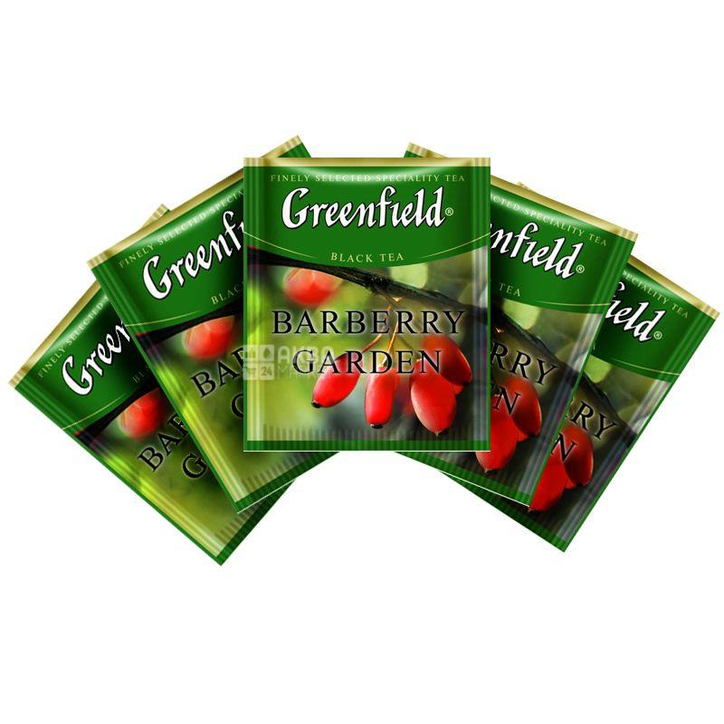 Greenfield, Barberry Garden, 100 пак., Чай Грінфілд, Барбері Гарден, Чорний, ХоРеКа