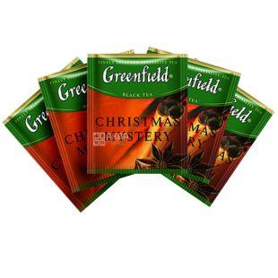 Greenfield Christmas Mystery Чорний байховий, Чай, 100 пакетиків,  ХоРеКа