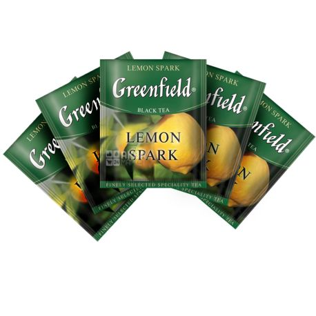 Greenfield, Lemon Spark, 100 пак., Чай Гринфилд, Лемон Спарк, черный байховый, ХоРеКа