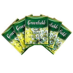 Greenfield, Rich Camomile, 100 пак., Чай Гринфилд, Рич Камомайл,  травяной с ромашкой,ХоРеКа