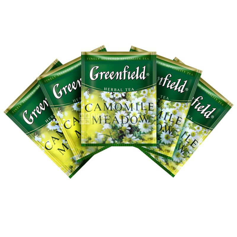 Greenfield, Rich Camomile, 100 пак., Чай Гринфилд, Рич Камомайл,  травяной с ромашкой,ХоРеКа