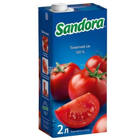 Sandora Сок томатный, 2л, тетрапак, упаковка 6шт