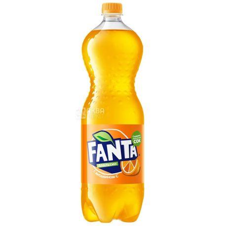 Fanta, Апельсин, Упаковка 6 шт. по 1,5 л, Фанта, Вода солодка, з натуральним соком, ПЕТ