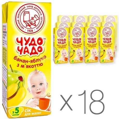 Чудо-чадо Сок бананово-яблочный, 200мл, тетрапак, упаковка 18шт