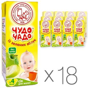 Miracle Chado Juice Green Apple, 200ml, tetrapack, pack of 18pcs