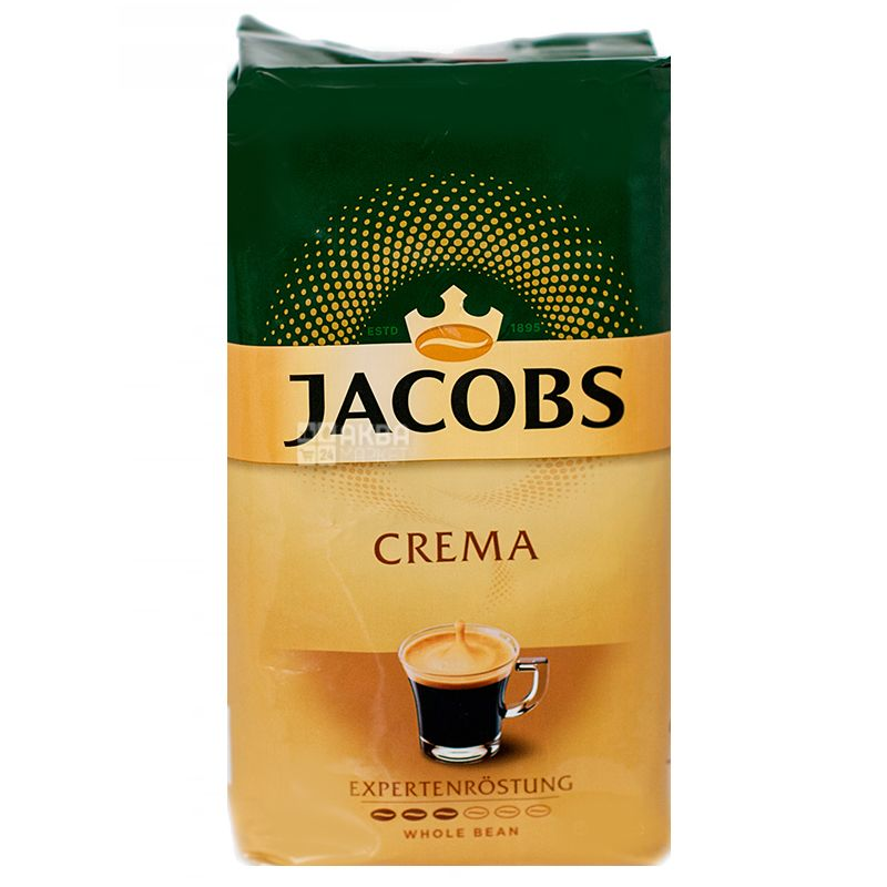 Jacobs Crema, 500г, кофе в зернах