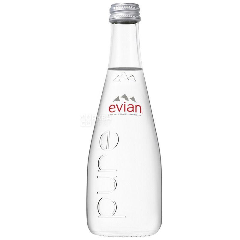 Evian Вода негазована, 0.33л, скло, упаковка 6шт, скло