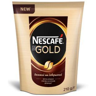Nescafe Gold, 210 г, Кофе Нескафе Голд, растворимый