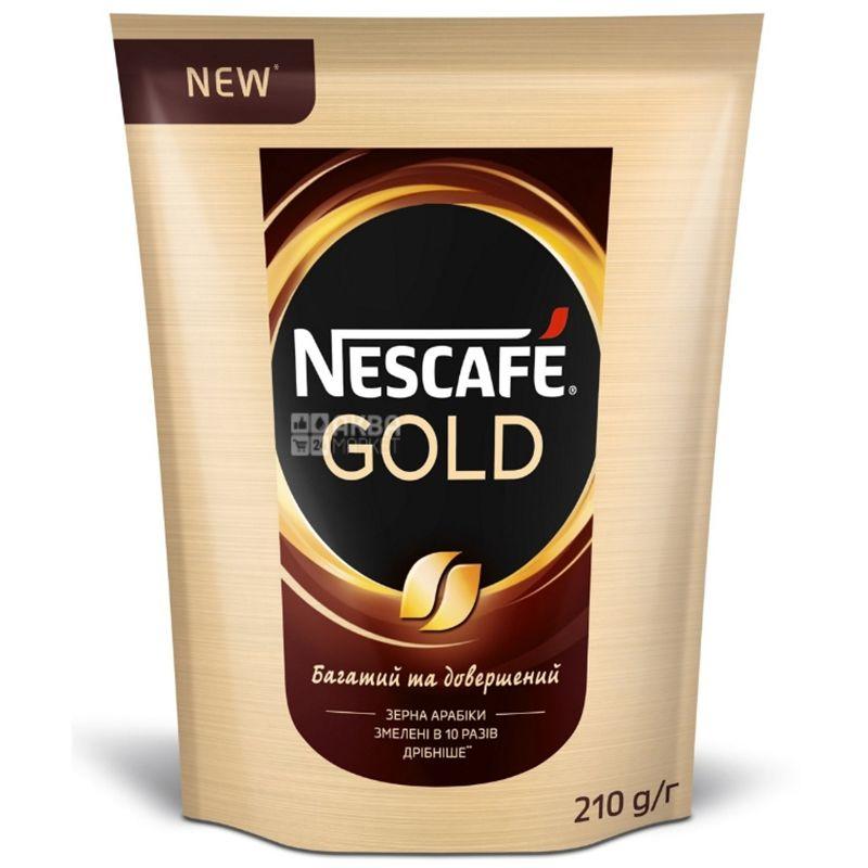 Nescafe Gold, растворимый кофе, 210 г, м/у