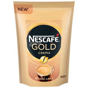 Nescafe Gold Crema, 100 г, Кофе Нескафе Голд Крема, растворимый
