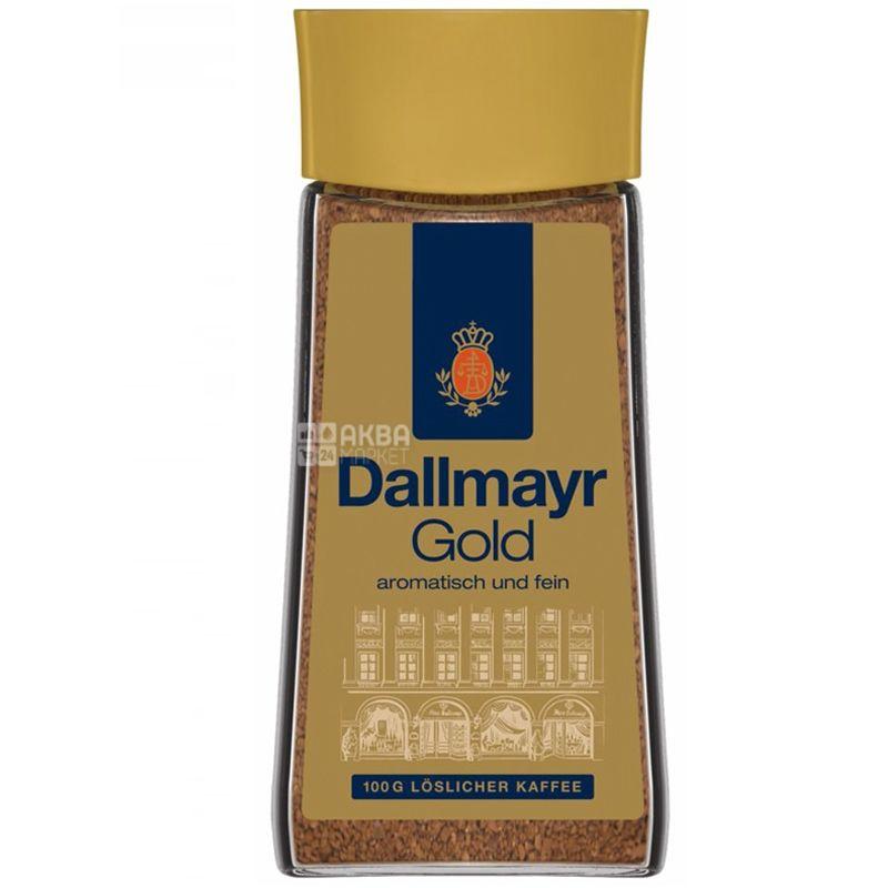 Dallmayr, 100 г, Кофе растворимый, Gold, стекло