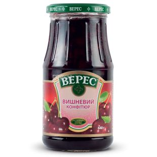 Veres, Confiture cherry, 640 g, glass