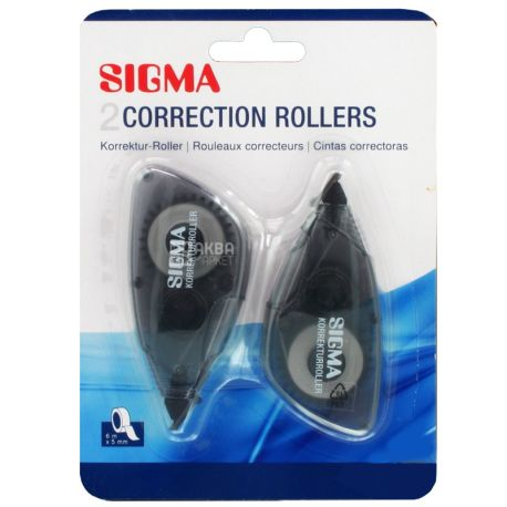 Sigma, Лента корректор, 5 мм х 6 м, упаковка 2 шт.