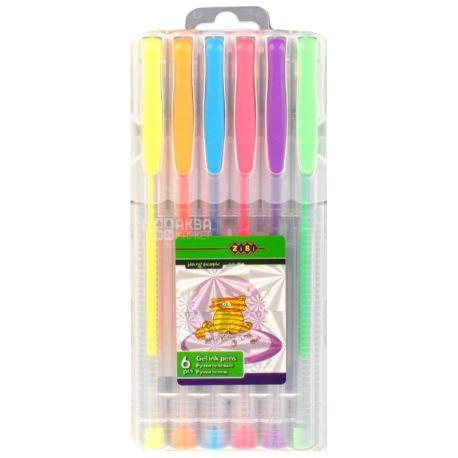 ZiBi, Набор гелевых цветных ручек, упаковка 6 шт.