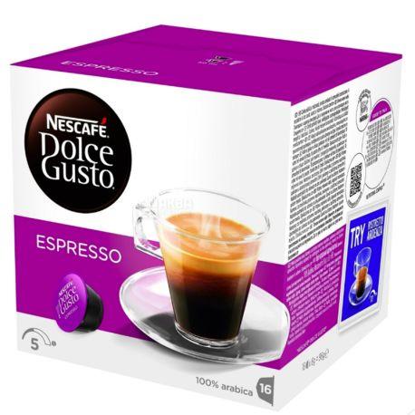 Nescafe Dolce Gusto Espresso, Кофе в капсулах, 96 г, картон