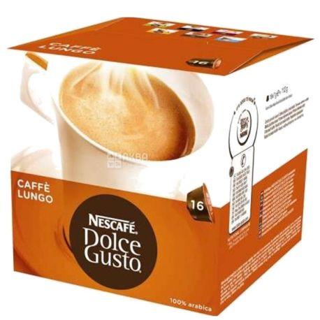 Nescafe Dolce Gusto Lungo, 16 шт., Кофе Нескафе Дольче Густо Лунго, средней обжарки, в капсулах