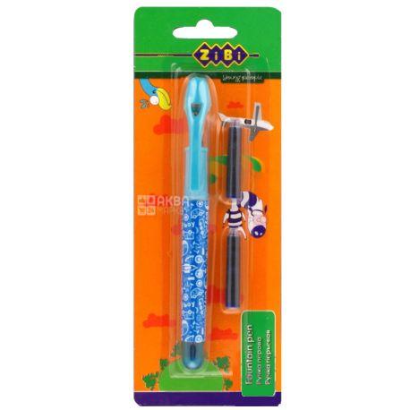 ZiBi, Ручка перьевая синяя, 2 сменных картриджа