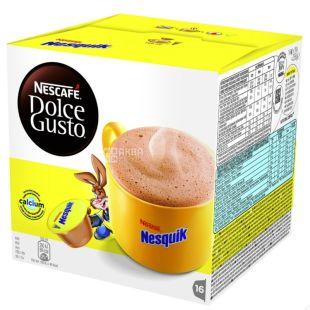 Nescafe Dolce Gusto Nesquik, 256 г, Нескафе Дольче Густо Несквик, Какао-напиток, в капсулах 16 шт.