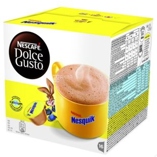 Nescafe Dolce Gusto Nesquik, какао-напій в капсулах, 256 г, картонна коробка