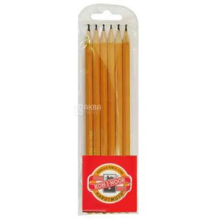 Koh-I-Noor, Set of graphite pencils 2H-2B, pack of 6 pcs