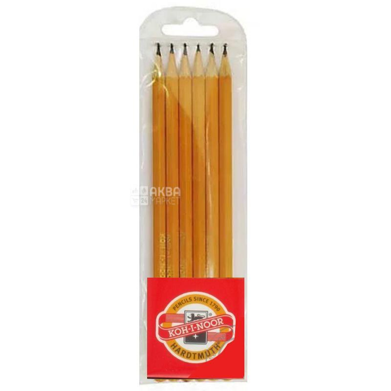Koh-I-Noor, Набор графитных карандашей 2Н-2В, упаковка 6 шт