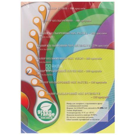 IQ color Super mix, Бумага офисная разноцветная, 80 г/м2, 250 листов