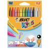 BIC, Крейда кольорова воскова, 12 шт., картон