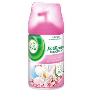 Air Wick, 250 ml, air freshener, Magnolia and Cherry blossoms, replaceable bottle