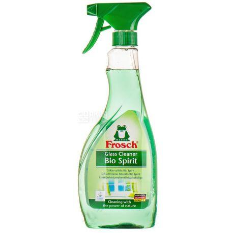 Frosch, Средство для мытья стекол, Спиртовое, Спрей, 500 мл