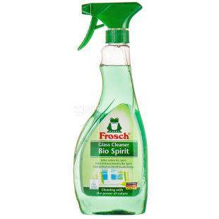 Frosch, Засіб для миття скла, Спиртовий, Спрей, 500 мл