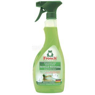 Frosch, 500 мл, Очиститель для ванны и душа, Спрей