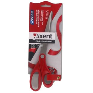Axent, Ножиці канцелярські, Welle, 25 см, Червоні, м/у