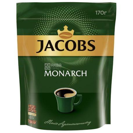 Jacobs Monarch, растворимый кофе, 170 г, эконом пакет