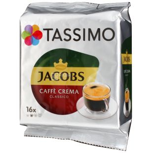 Jacobs Monarch Tassimo Crema, 16 шт., Кофе Якобс Монарх Тассимо Крема, в капсулах