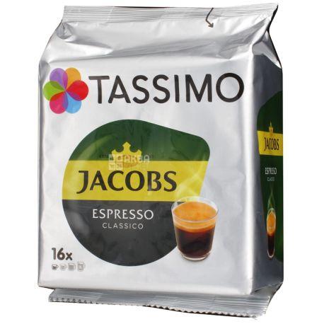 Jacobs Monarch Tassimo Espresso, 16 шт., Кофе Якобс Монарх Тассимо Эспрессо, в капсулах