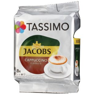 Jacobs Monarch Tassimo Cappuccino, 8 шт., Кава Якобс Монарх Тассімо Капучино, в капсулах