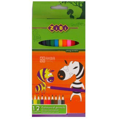 Zibi, Карандаши цветные, упаковка 12 шт., картон
