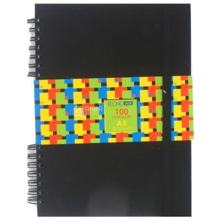 Economix Блокнот, С пластиковой обложкой на резинках, А5, 100 листов