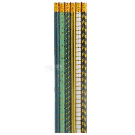 Набор карандашей, 13см, 6шт